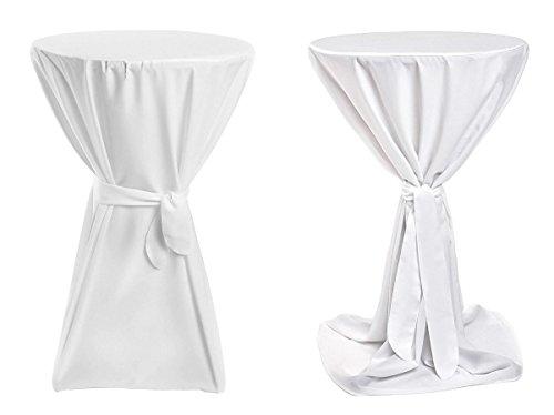 Stehtischhussen Premium (Farbe & Durchmesser nach Wahl) - Weiß 80cm Durchmesser