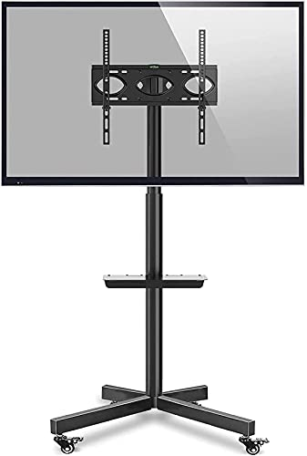 BNFD Mobile TV Stand on Wheels 27-55 Inch Flat Curved TVs with Optional Shelf Cable Management Portable Movable