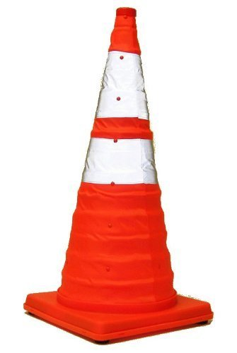 Eurow Safety Lighted Collapsible Traffic Safety Cone 28 Inch by Eurow & O'Reilly Corp.