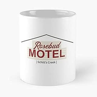Rosebud Motel Schitt's Creek Classic Mug - The Funny Coffee Mugs For Halloween, Holiday, Christmas Party Decoration 11 Ounce White Leinstudio.