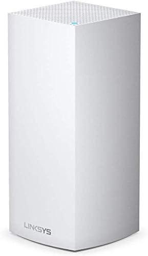 TALLA 1 Pack | 260 m² (max) | 5.3 Gbps. Linksys MX5300 Sistema Velop WiFi 6 mesh tribanda para todo el hogar (router/extensor WiFi AX5300, 260 m² de cobertura, velocidades hasta 4 veces más rápidas, más de 50 dispositivos, 1 nodo, blanco)