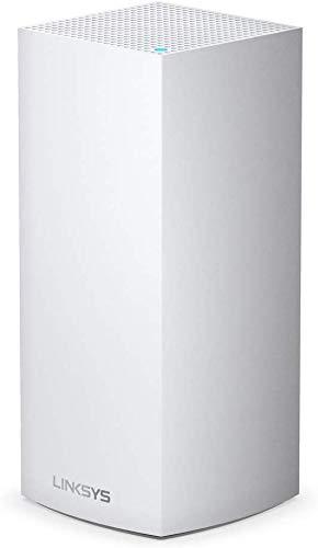 Linksys MX5300 Sistema Velop WiFi 6 mesh tribanda para todo el hogar (router/extensor WiFi AX5300, 260 m² de cobertura, velocidades hasta 4 veces más rápidas, más de 50 dispositivos, 1 nodo, blanco)