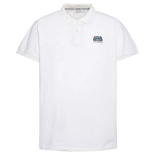 Pepe Jeans Corwin Camisa Polo, Blanco (Off White 803), Medium para Hombre