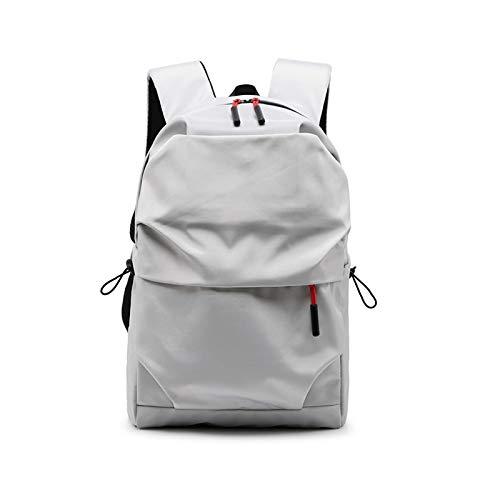 Nueva mochila impermeable de los hombres de las mujeres, 15.6 pulgadas portátil mochila de gran capacidad estudiante mochilas ocasionales de la escuela, Gray (Gris) - berglink-KN0GP0