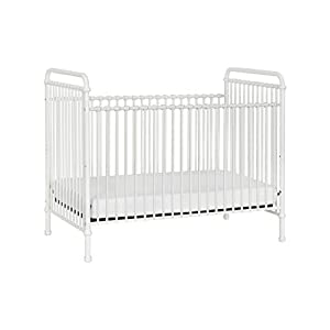 Million Dollar Baby Classic Abigail 3-in-1 Convertible Iron Crib in Washed White