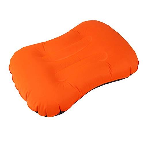 WEARRR Cojín Inflable Ligero Suave Almohada Suave Almohada Ultraligero Almohadas de Viaje Camping Playa Inflable al Aire Libre al Aire Acampar (Color : Orange)