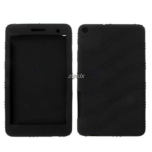 SAUJNN Funda de silicona ultra fina suave para Huawei T1-701U 7 pulgadas Tablet PC diseño simple negro Z07 Drop Ship