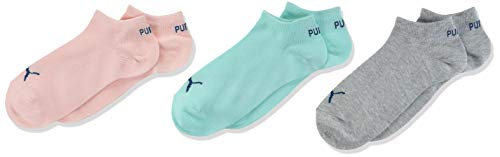 PUMA Unisex-Child Kids' Quarter (3 Pack) Socks, Aqua Green, 31/34 (3er Pack)