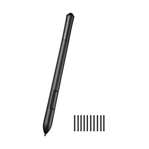 Parblo Island A609 Graphic Tablet Cordless and Battery-Free Digital Drawing Passive Pen with 10 Replacement Nibs