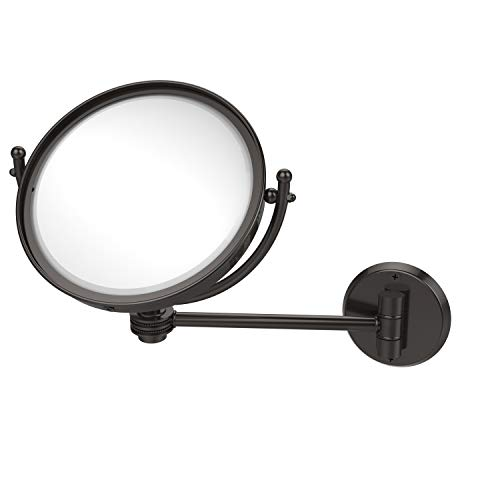 8 Inch Wall Mounted 3X Magnification Make-Up Mirror, Oil Rubbed Bronze - Allied Brass WM-5D/3X-ORB