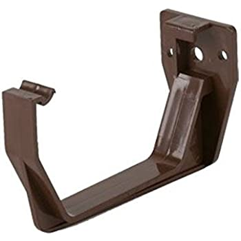 Brown Square Guttering And Downpipe Gutter And Pipe Fittings Fascia Bracket X 1 Amazon Co Uk Diy Tools