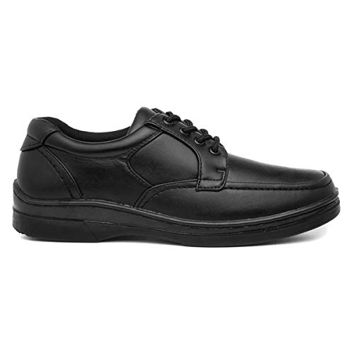 Hobos Mens Black Lace Up Shoe - Size 10 UK - Bl