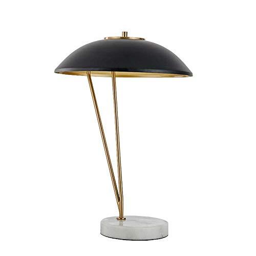 Damai Mármol Negro de Hardware del Sombrero de Paja de la lámpara de la Personalidad Creativa de Habitaciones Sala de Estar Modelo Study Desk Dormitorio 48x58cm