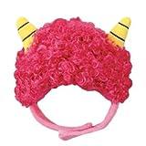節分 鬼 キャップ (チワワ 小型犬 帽子 豆まき) (M, ピンク)