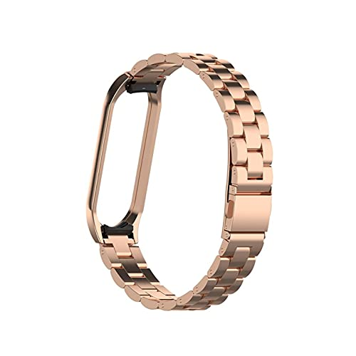 HENHEN Jun Store Reloj Fit Fit for MI Band 3 4 5 6 Smart Pulsera en Fit para MI Band 4 Acero Inoxidable Reemplace Strap Fit para Xiaomi 6 5 4 3 Strap Pulsera