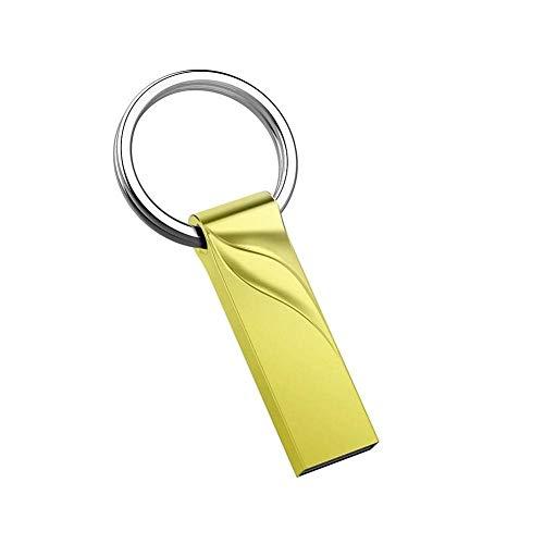 PULABO 32 Go de Disque en métal U USB3.0 Clés USB Memory Stick Pen Keychain Gold Nouveauté rentable Utile