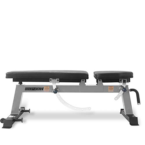 CAP Barbell Deluxe Utility Weight Bench, Silver