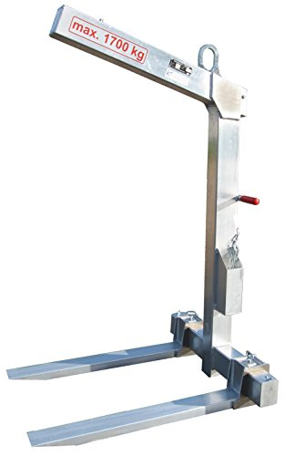 Krangabel Ladegabel Aluminium KL1700 1700 kg Nutzlast - automatischer Gewichtsausgleich! Qualität Made in Germany