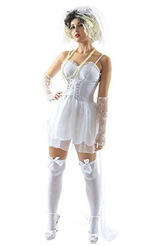 ORION COSTUMES Disfraz de Novia de los años 80 Música para Mujeres