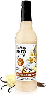 Jordans Skinny Syrups - Sugar Free Vanilla Bean Keto Syrup with MCT Oil - No artificial Sweeteners