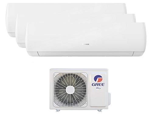 CLIMATIZZATORE INVERTER TRIAL SPLIT WI-FI 9000 + 9000 + 12000 BTU (U.E.24) GREE R32 CLASSE A++/A+