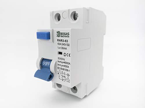 Interruptor Diferencial SuperInmunizado SI, 30 mA, 2P, Clase A y 6kA (63 Amperios)