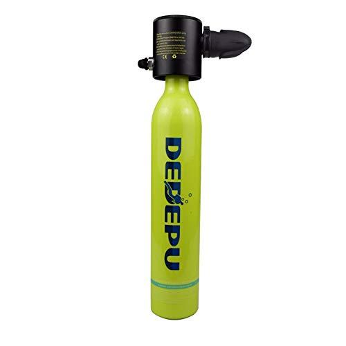 HEQIE-YONGP Buceo Equipo de Buceo bombonas de oxígeno Depósito de Aire 0.5L, Cilindro de oxígeno for el Buceo, regulador de Buceo, Buceo Respirador Respirador Medidor de Snorkel-2 (Color : Borgoña)