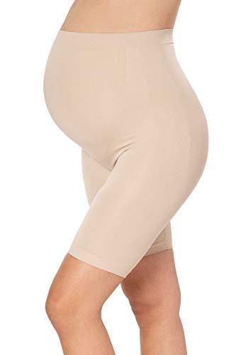 MAMARELLA Pantaloni per gravidanza in tessuto Seamless, elastici e di supporto per tutti i trimestri e la schiena, proteggono dalle cosce sfreganti, traspiranti pelle M
