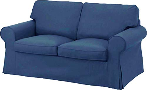 The Ektorp Two Seater Sofa Bed Cover Replacement is Made Compatible for IKEA Ektorp 2 Seater Sleeper Only, A Quality Sofa Slipcover Replacement (Polyester Flax)