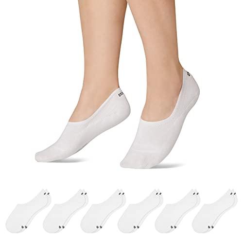 Snocks Sneaker Socken Damen Weiß Größe 39-42 6x Paar Sneaker Socken Herren Damen Sneaker Socken Füßlinge Damen Sneakersocken Ballerina Socken Damen