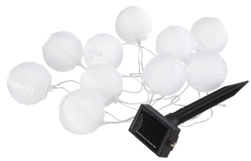 "Best Season 477-13 LED-Solarlichterkette ""White Ball"", 10-teilig, 2,7 m, outdoor, cool weiß"