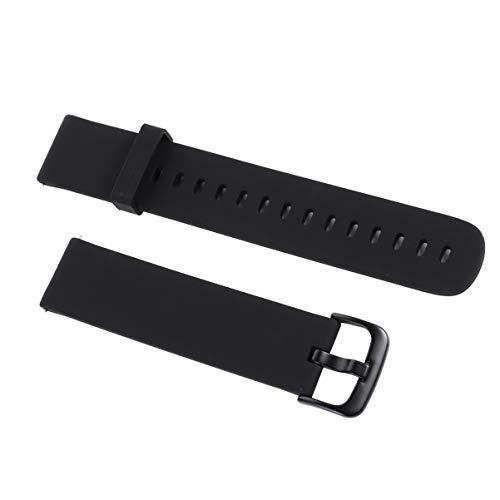 Hemobllo Silikon Armband Kompatibel für Xiaomi Amazfit Bip Ersatz Armband Weiches Armband Smart Watch Zubehör 20mm(Schwarz)