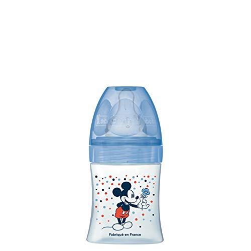 Biberón Initiation+ anticólico, 150 ml, caudal 1 Mickey azul