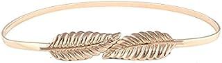 Rashi Designer Studio Gold Plated Double Leaf Stretchable Waist Belt for Girls/Woman