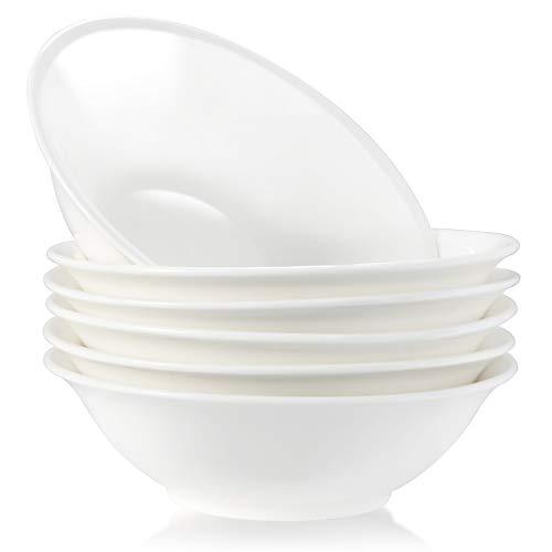 Cereal Bowls, 6.8 Inch Salad Bowl, Set of 6, TAOUNOA PorcelainBowl sets. Microwave Safe, Dishwasher Safe.