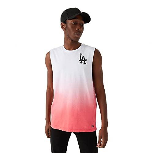 New Era Los Angeles Dodgers MLB Tanktop Shirt Baseball Trikot Fanshirt Dip Dye Weiss - XXL