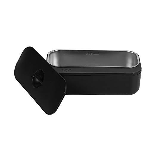CSDY-Máquina De Limpieza por Ultrasonidos del Hogar Lavadora Joyería De Lavado Ver Lente De Contacto del Detergente Limpiadores Ultrasónicos,Negro