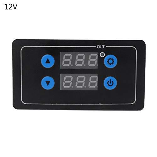 LAOSI - Temporizador de cuenta regresiva 0,1 s – 999 h programable de control de ciclo de tiempo relé Dalay 5 V/12 V/220 V voltaje opcional PCB de plástico 12v