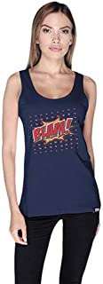 Cero Blam Retro Tank Top For Women - S, Navy
