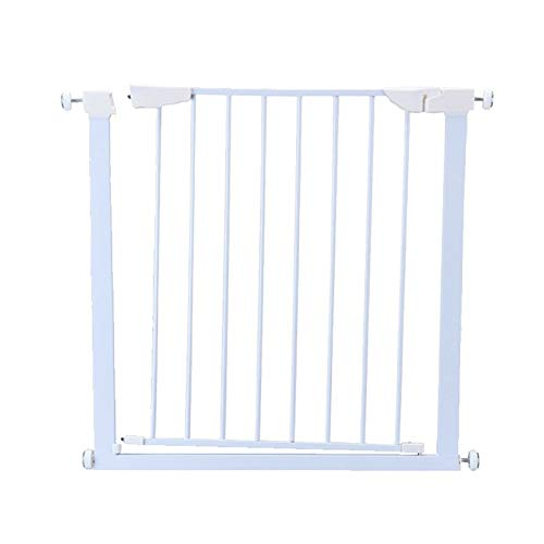 Great Deal! Huo Extra Wide Baby Pet Gate, White Metal Safety Fence for Indoor Outdoor, Easy to Open ...