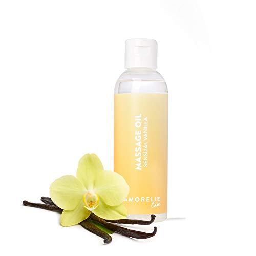 Amorelie Basics - Sensual Vanilla Erotik Massageöl Feuchtigkeitsspendend Vanille (100ml)