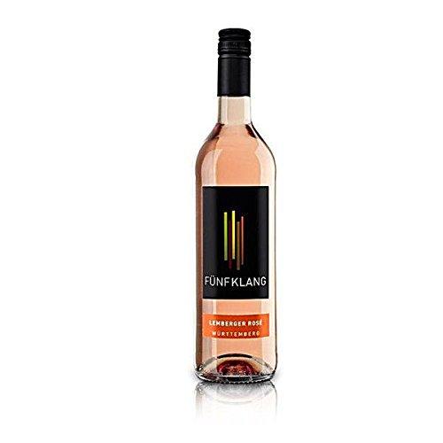 6 Flaschen Fünfklang Lemberger rose a 750ml Rosewein