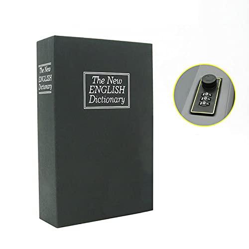 Alexny Hucha, Caja Fuerte para Libros, Cerradura de Llave analógica Divertida, Caja de Libros, Hucha en Efectivo de Acero metálico