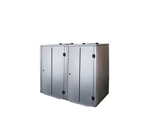 Mülltonnenbox Edelstahl, Modell Eleganza Line V10, 240 Liter als Zweierbox