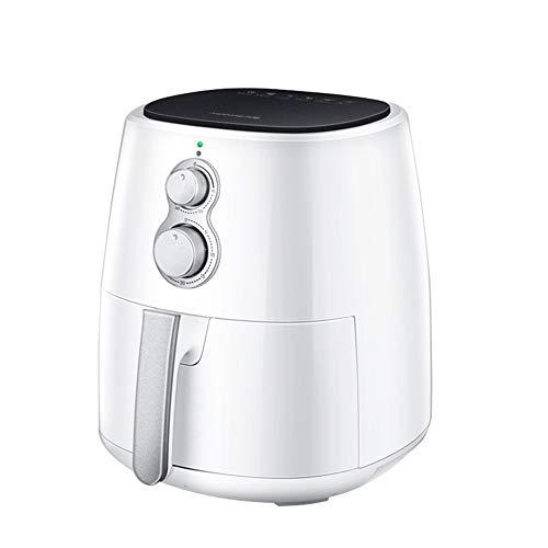 Friteuse thuis, zonder olie, friet Franse machine, 3,5 grote capaciteit, knop, bediening voor oven, elektrisch, gezond koken Wit