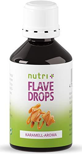 Aromatropfen Karamell 50ml - Kalorienfreie Flave Drops - Geschmackstropfen zum Süßen und Backen - ideal für Kuchen & Kekse - Flavor Drop Vegan - Caramel Flavour ohne Zucker