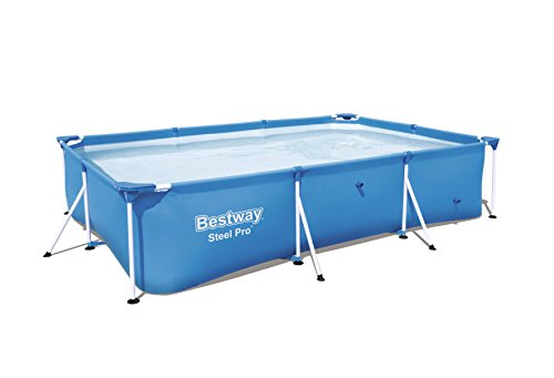 "Bestway 56498E Steel Pro Above Ground, 118in x 79in x 26in | Rectangular Frame Pool Only, 118"" x 79"" x 26"""