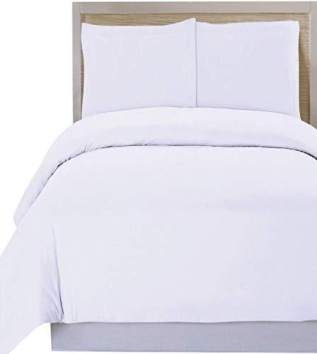 Utopia Bedding 3 Piece King Duvet Cover with 2 Pillow Shams, (King White)