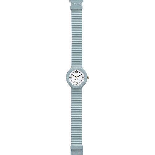 Orologio HIP HOP donna NUMBERS COLLECTION quadrante bianco e cinturino in silicone azzurro-gold, movimento SOLO TEMPO - 3H QUARZO