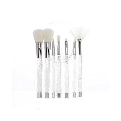 Pinceau de maquillage professionnel 7 pinceau de maquillage ensemble poignée de cristal liquide sable rapide pinceau de maquillage outil de maquillage beauté outil de maquillage pinceau de maquillage